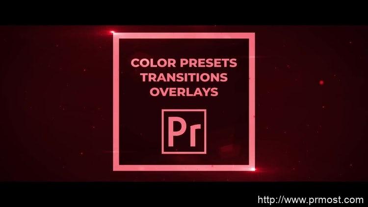 009-50组转场调色预设Pr预设,50 Pack Color Presets, Transitions, Overlays