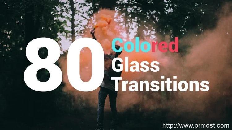 013-80组创意玻璃效果转场过渡效果Pr模版,80 Colored Glass Transitions
