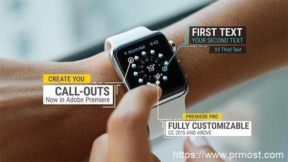 035产品呼号指示线Pr模版,Call-Outs