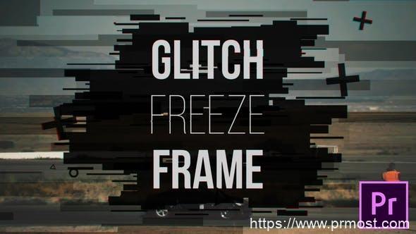 051信号干扰冻结帧Pr模版,Glitch Freeze Frame