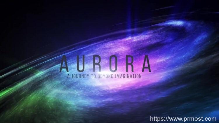 060宇宙炫光特效Pr模版,Aurora