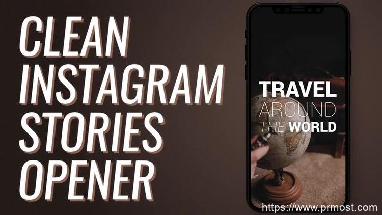 071简洁网格图片视频开场Pr模版,Clean Instagram Stories Opener