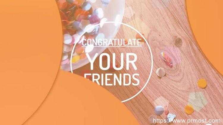 078创意生日旅行庆祝视频开场pr模版,Congratulations Opener