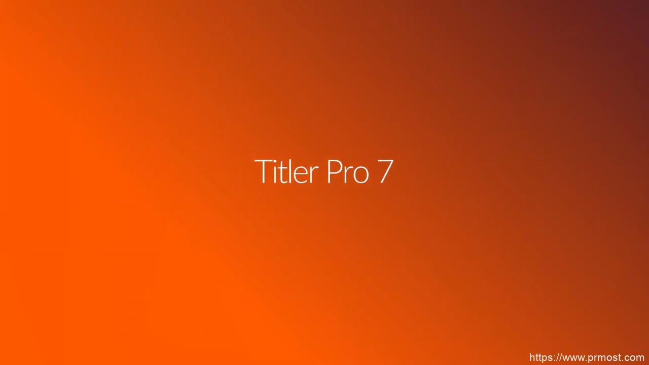 NewBlue Titler Pro 7.0专业文字标题字幕制作软件Win中文破解版