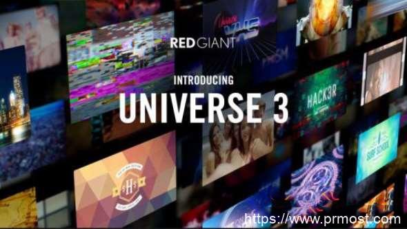 红巨星特效预设库 Red Giant Universe V3.1.5 AE/Premiere/FCPX/达芬奇/OFX Win/Mac破解版 + 序列号