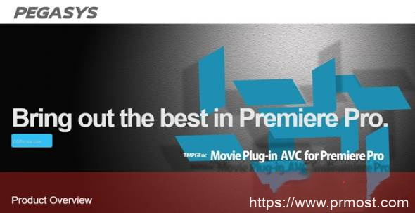 PR H.264/AVC编码插件 TMPGEnc Movie Plug-in AVC 1.1.2.19 for Adobe Premiere Pro Win破解版