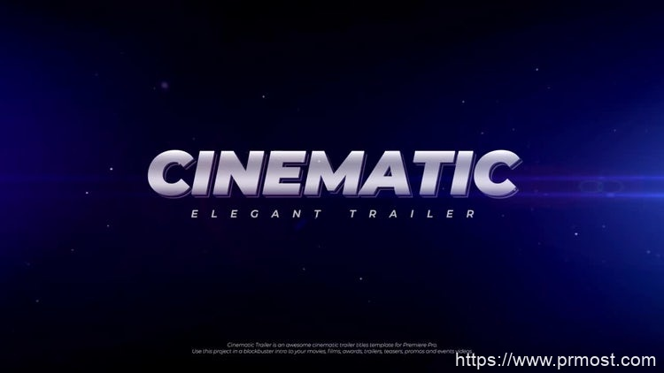 129电影文字特效Pr模版,Cinematic Trailer