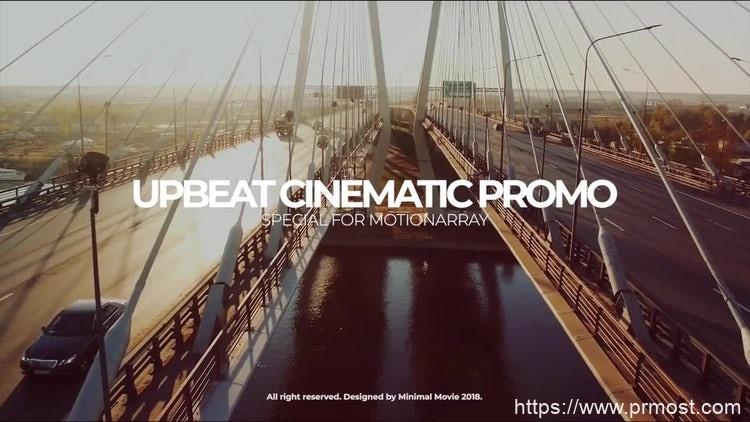 147快闪图片视频展示Pr模版,Upbeat Cinematic Slideshow