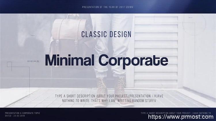 163企业公司视频宣传Pr模版,Minimal Corporate
