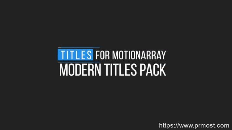 165迷你动态文字标题Pr模版,Minimal Motion Titles