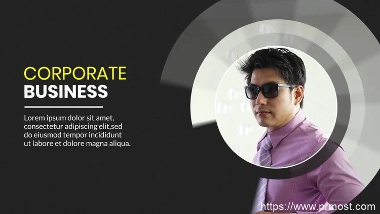 168商业人物介绍宣传Pr模版,Business Slideshow Premiere