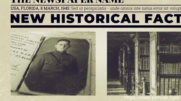 179报纸杂志视频宣传Pr模版,Newspaper Investigation