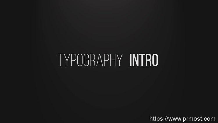 201快闪文字特效视频开场Pr模版,Typographic Intro
