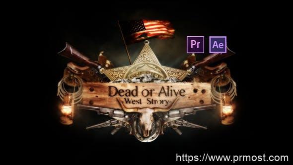 267史诗级电影logo演绎mogrt预设AE模版,Epic Dead or Alive Logo