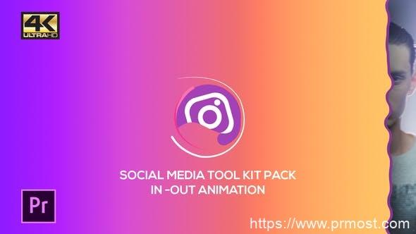 275社交媒体视频包装mogrt动画Pr预设