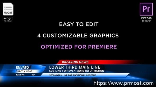279新闻电视栏目包装字幕条MOGRT动画Pr预设AE模版