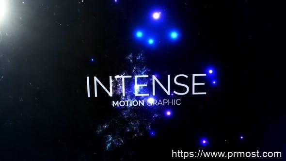 281大气震撼高科技效果文字标题Mogrt动画AE模版,Galaxy