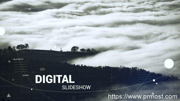 324数字科技视频宣传Pr模版,Digital Slideshow
