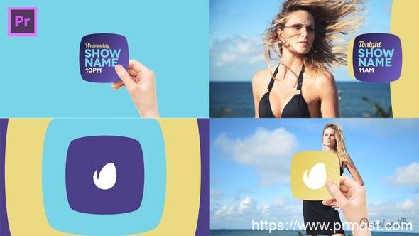 339创意电视栏目包装文字标题Mogrt预设Pr预设,Broadcast Hand Package Essential Graphics | Mogrt