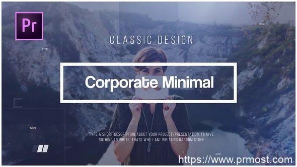 347企业公司迷你文字标题动画Pr模版,Corporate Minimal