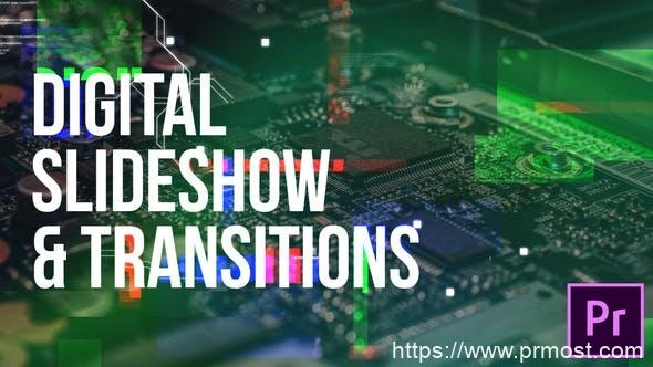 353数字科技图片转场过渡特效Pr模版,Digital Slideshow & Transitions