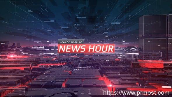 369新闻电视栏目包装Mogrt动画Pr预设,News Hour