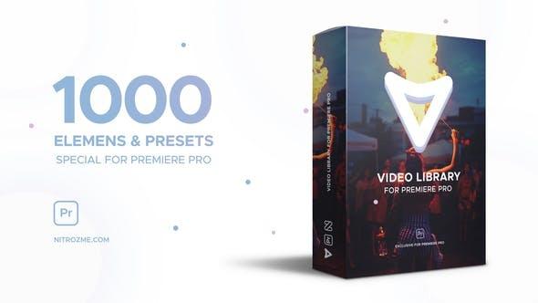 377-1000种视觉特效栏目包装动画Pr模版,Video Library for Premiere Pro