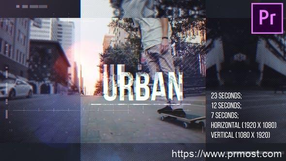 393信号干扰快闪视频开场Pr模版,Urban Opener