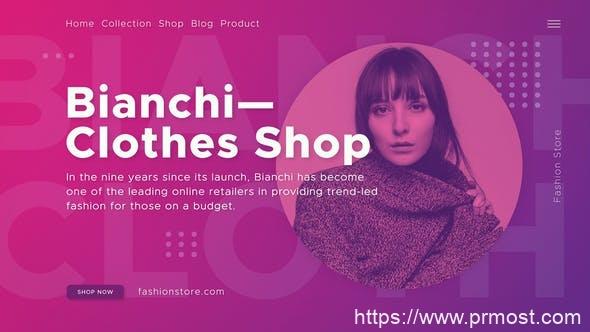 394时尚打折促销视频开场Mogrt动画AE模版,Fashion Shop