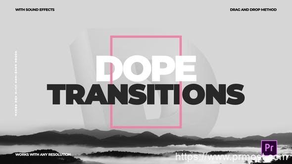 408创意唯美快闪转场特效Pr模版,Dope Transitions | For Premiere Pro