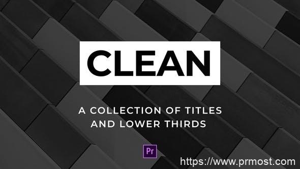 413简洁文字标题动画字幕条Mogrt预设Pr预设,Clean Titles and Lower Thirds - For Premiere Pro