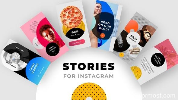 416现代流行INS竖屏包装AE模版,Instagram Stories Pack No. 1