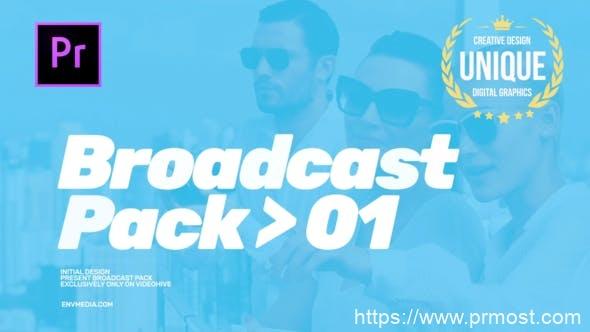 421现代创意电视栏目包装Mogrt动画Pr预设,Modern Broadcast Pack
