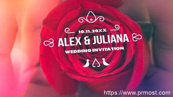 430迷你婚礼爱情文字标题视频包装Mogrt预设Pr模版AE模版,Minimal & Luxury Wedding Titles