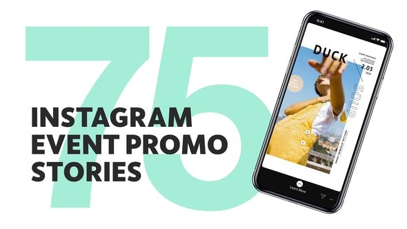 457-75组创意视频宣传Pr模版,75 Insta Event Promo Stories