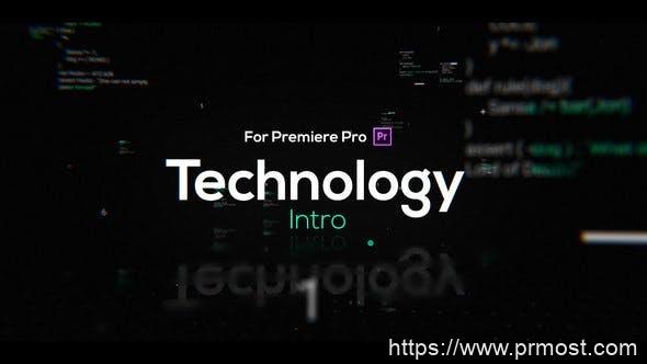 460高科技文字特效视频开场Pr模版,Technology Intro for Premiere Pro
