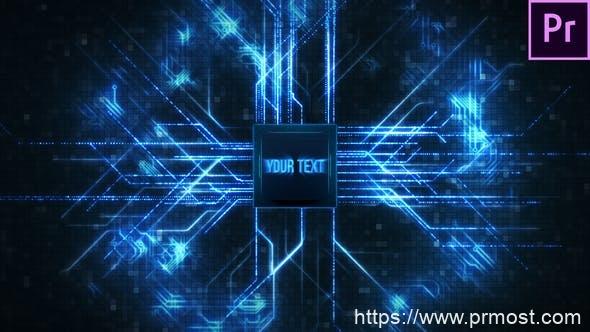 476处理器CPU高科技文字特效视频宣传Mogrt动画Pr预设,CPU Technology Title