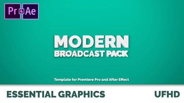 505现代电视栏目包装Mogrt动画AE模版,Modern Broadcast Pack