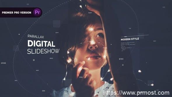 510数字科技视频开场Mogrt预设Pr预设,Digital Opener