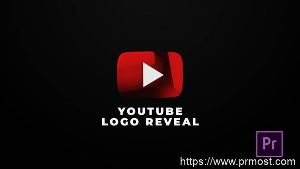 518社交媒体logo演绎动画Pr模版,Youtube Logo Reveal