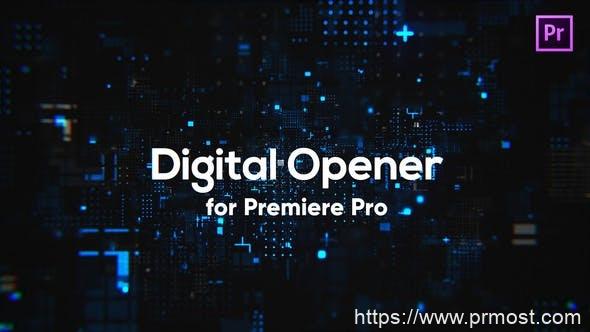 519数字科技视频开场Pr模版,Digital Technology Opener for Premiere Pro