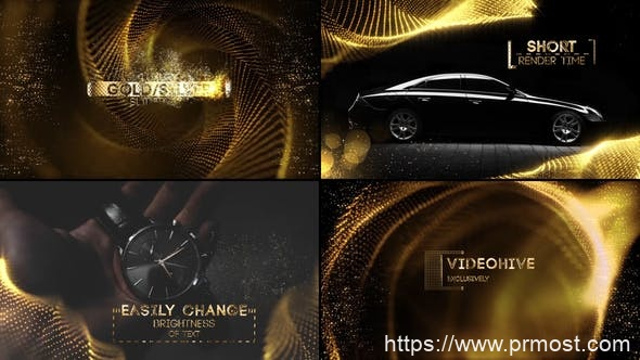 524奢华粒子特效图片展示视频包装Pr模版,Luxury Slideshow for Premiere Pro