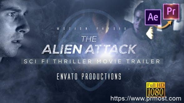 544科幻高科技视频文字特效AE模版,Scifi Thriller Movie Trailer – Premiere PRO