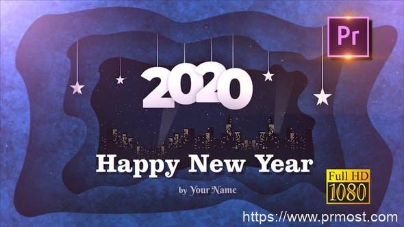 560新年视频开场2020年节日视频开场Mogrt动画Pr预设,New Year Opener 2020 – Premiere PRO