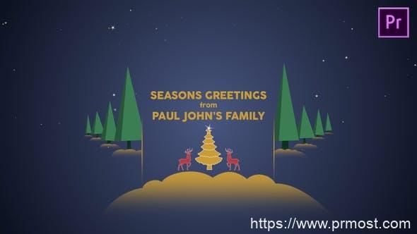 561圣诞节节日视频包装Mogrt动画Pr预设,Parallax Christmas Greetings – Premiere Pro