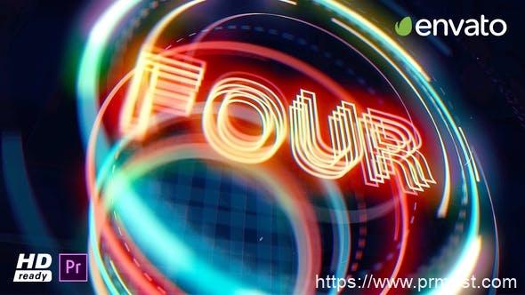 564新年2020年倒计时节日片头Mogrt动画Pr模版AE模版,Countdown Opener for – Premiere Pro