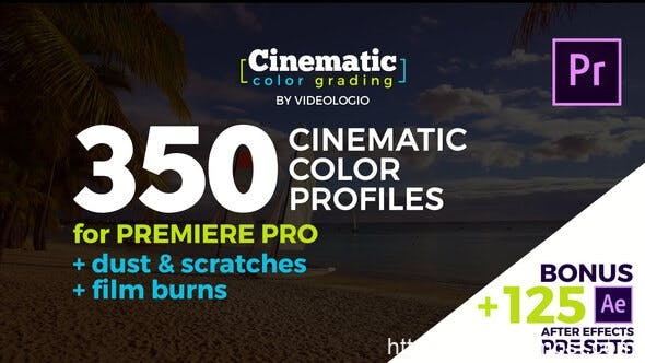 570电影级调色预设Pr模版AE预设,Cinematic Color Presets – Premiere Pro