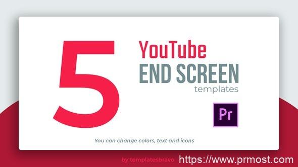 582社交媒体视频宣传Mogrt预设Pr预设,YouTube End Screens
