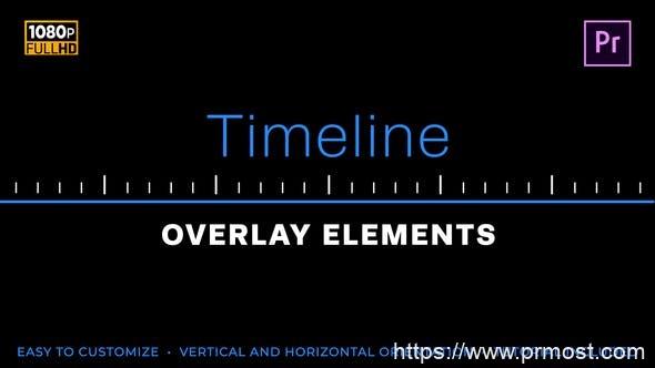 584简洁时间线元素视频包装Mogrt预设Pr预设,Easy Timeline Elements