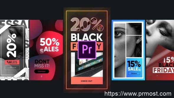 588竖屏INS产品促销宣传Mogrt动画Pr预设,Sales Instagram Stories-MOGRTS